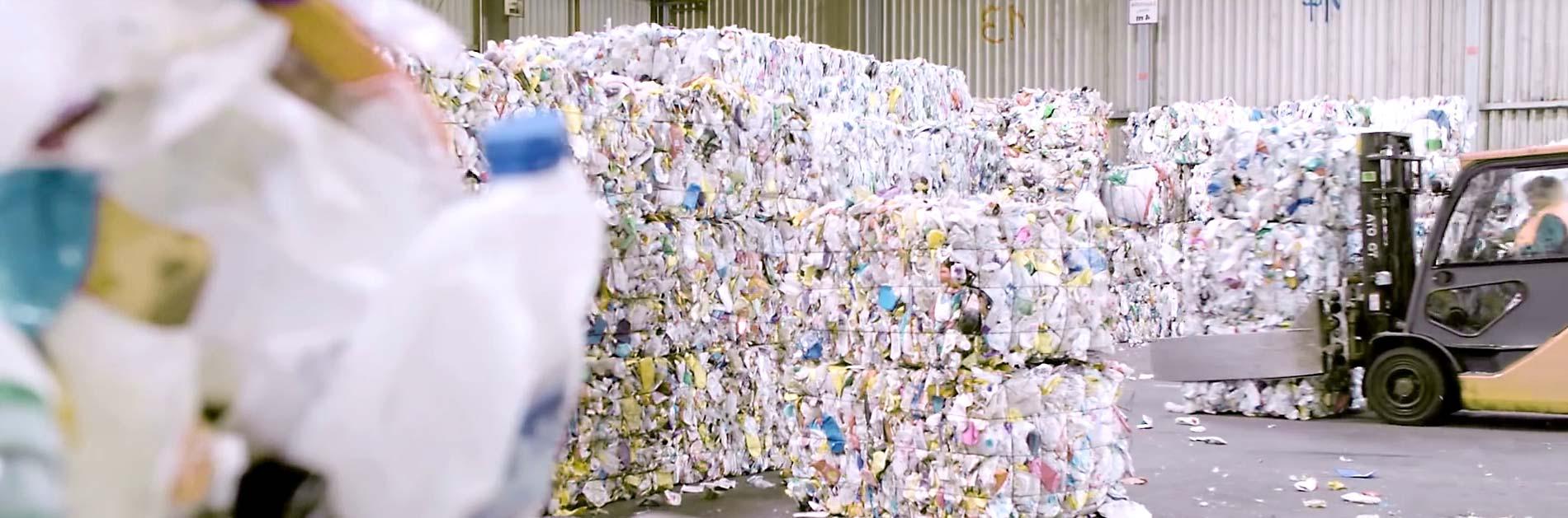 Kunststoffabfall Lager